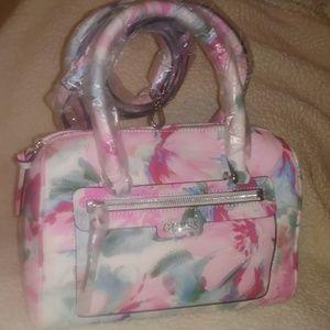 Guess Julia Ruth Rose Multi/Floral Box Satchel